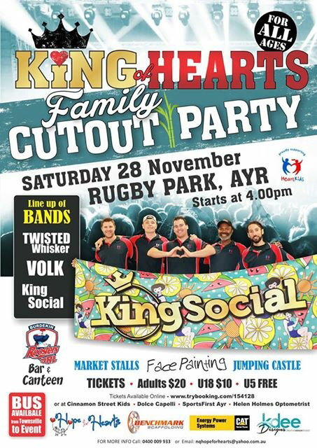 King of Hearts Family Cut Out Party